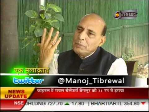 Manoj Tibrewal Aakash Interviewed BJP Leader Rajnath Singh for DD News's Ek Mulaqat on 08.10.2011