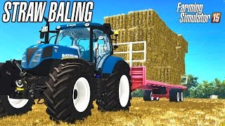 Straw baling in United Kingdom