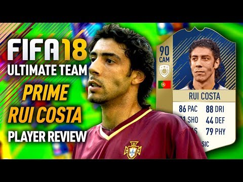 FIFA 18 PRIME ICON RUI COSTA (90) PLAYER REVIEW! FIFA 18 ULTIMATE TEAM!