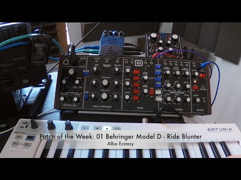 PATCH of the WEEK 01: Behringer Model D - Ride Blunter