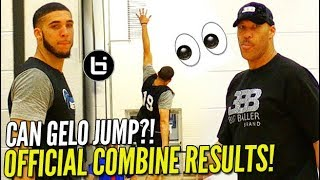"LiAngelo Ball NBA Pre-Draft OFFICIAL COMBINE TESTING RESULTS! 35""+ VERTICAL?!!"