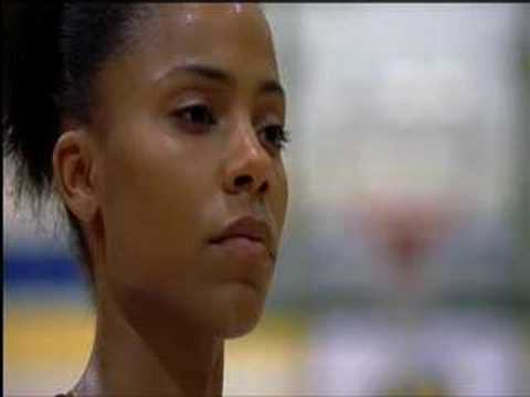 "Episodes from 2000 movie ""Love & Basketball"", music by Kanye West."