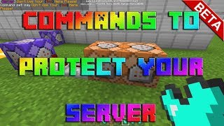 Minecraft: Commands To Protect Your Server On Xbox!