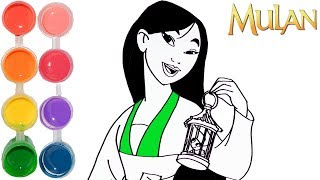 How to Draw & Color Disney Princess Mulan | Drawing prismacolor Learning Tutorial | Kids Learn Color