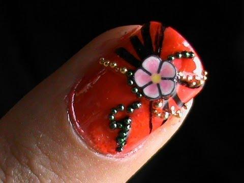 nail art tutorial fimo flower nail art 3d nail art designs