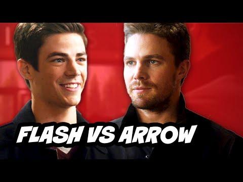 The Flash Episode 8 - TOP 10 Flash vs Arrow Moments