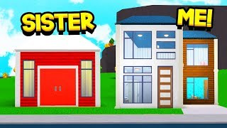 SISTER Vs BROTHER BLOXBURG $10K BUILD OFF CHALLENGE!! (Roblox)