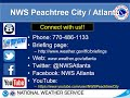 NWS Atlanta Weekly Weather Briefing for August 13, 2020