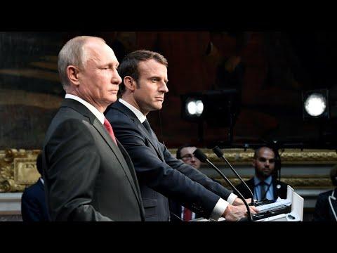 Emmanuel Macron : Russia Today et Sputnik ont été des organes de propagande durant la campagne