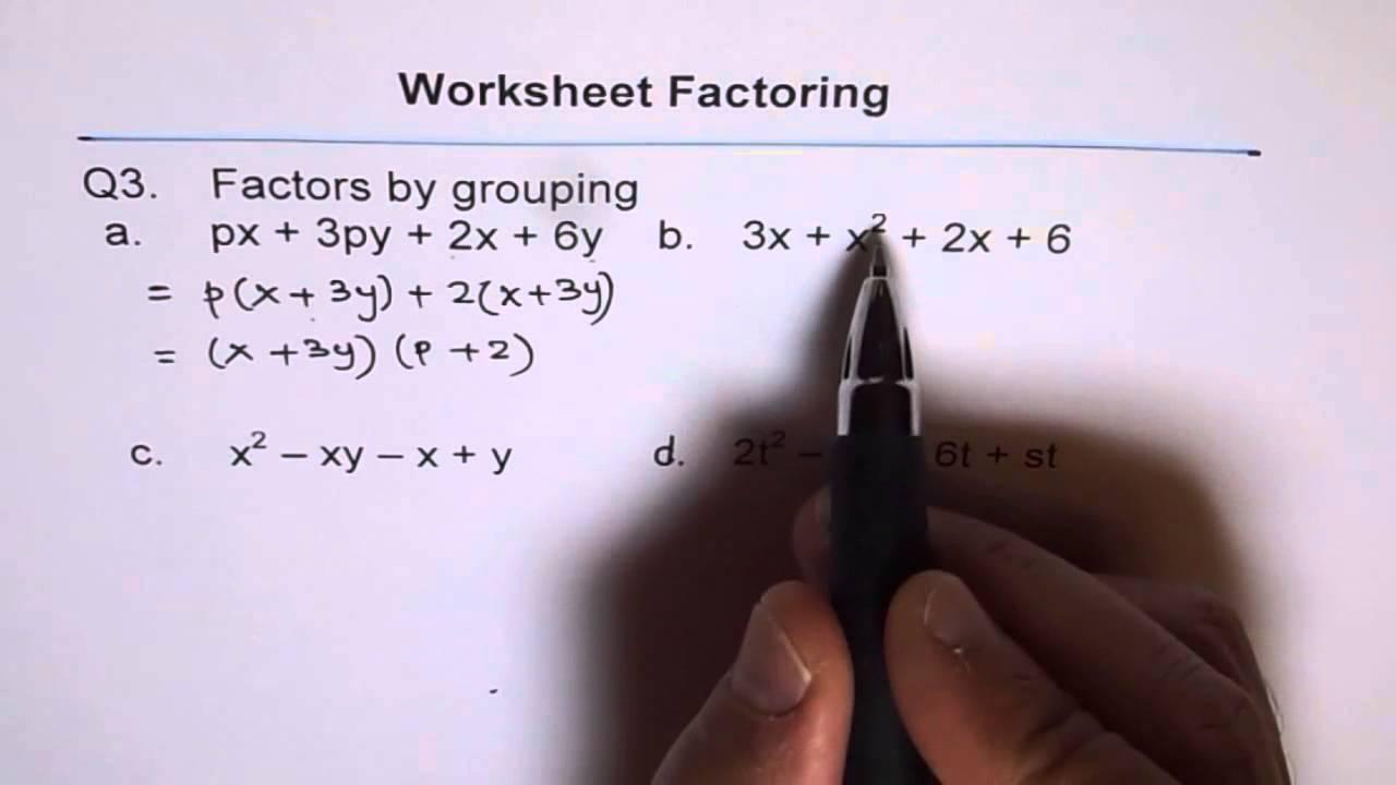 Factors worksheet grade 3