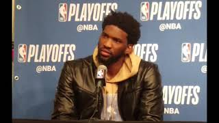 Joel Embiid talks altercation with Jared Dudley after flagrant foul