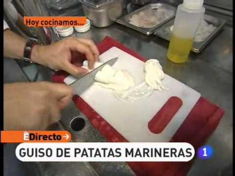 Receta de Guiso de patatas marineras   ED