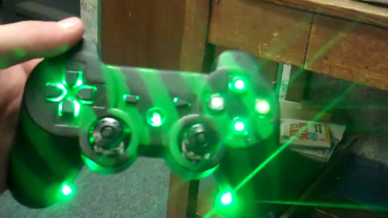 Green Ps3 Controller Mod Is Finished Youtube