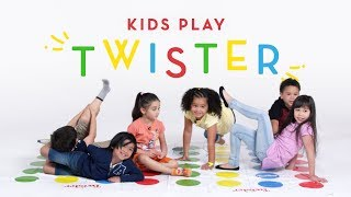 Kids Play Twister