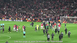 Manchester United 1 - Celta Vigo Fan Footage The Final Whistle Players, Manager & Fans Reactions