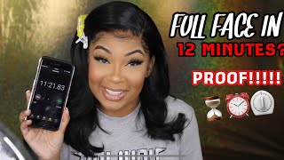I CAN DO MY MAKEUP IN 12 MINS! [PROOF!!] #AaliyahJayChallenge