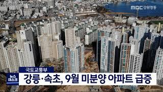 강릉·속초, 9월 미분양 아파트 급증