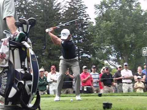 Pablo Larrazabal face on swing 2013 PGA Championship