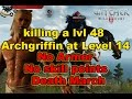 Lagu Witcher 3 - killing a lvl 48 Archgriffin at level 14 Without armor