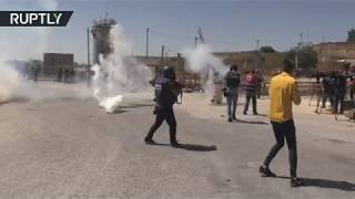Israeli forces fire tear gas at arbitrary detention demo near Ramallah