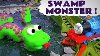 Thomas and Friends Swamp Monster Toy Trains Episode with Play Doh - Train Toys Episode for kids TT4U