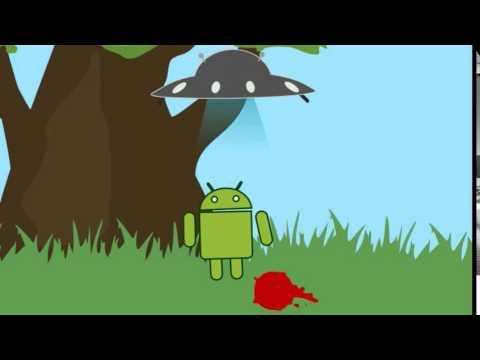 Рисуем мультфильмы. Андроид и НЛО.