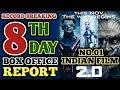 2.0 Box office collection Day8  Robot 2 8th day Box office collection Akshay Kumar,Rajinikanth  thumbnail