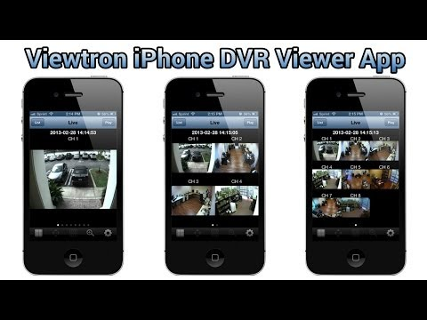 iPhone Live Camera Viewer App for Viewtron CCTV DVRs