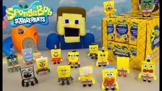 SPONGEBOB Squarepants ARMY of FIGURES!! The Many Faces of Blind Box Mystery Unboxing WAR!