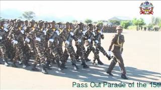 Pass out parade of Namibian Defence Force 15th recruit training