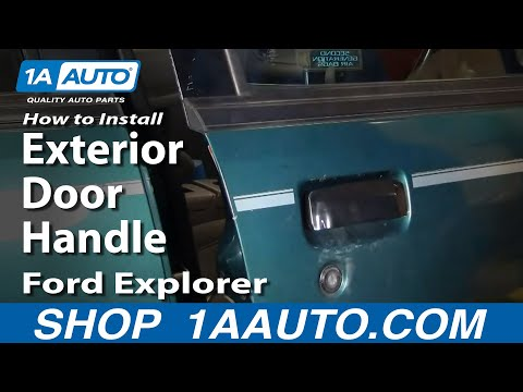 How To Install Repair Replace Exterior Door Handle Ford Explorer 98-04 1AAuto.com