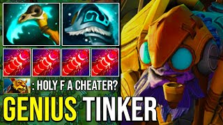 Crazy Fast Hand + Ultra Fast Farming Next Level Tinker Deleted Everyone 7.27 Dota 2