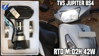 Brightest ? Led Headlight   TVS Jupiter BS4 AHO?   RTD M4 42W