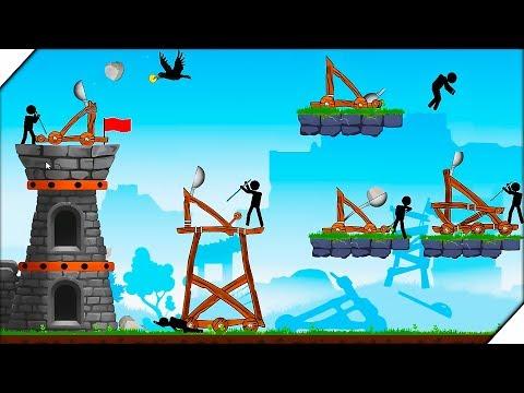 УПРАВЛЯЕМ КАТАПУЛЬТОЙ - Игра The Catapult Обзор.Игры для андроид