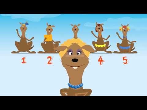 Песенка - Считалочка кенгурёнка - Развивающие песни для малышей