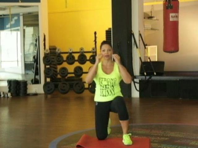 Work it out like Deanne Panday: The kneeling squat