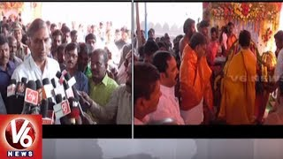 Minister Harish Rao Visits Sri Lakshmi Narasimhaswamy Temple In Pullur Banda - Siddipet  - netivaarthalu.com
