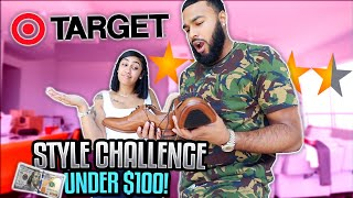 COUPLE STYLES EACHOTHER WITH ONLY TARGET CLOTHES ( CHALLENGE) | $100 LIMIT