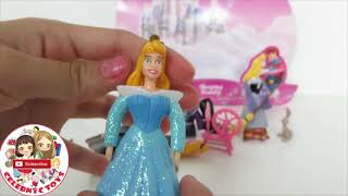 POLLY POCKET Disney Princess toys Collection Rapunzel Ariel Aurora CInderella Belle Tiana Jasmine