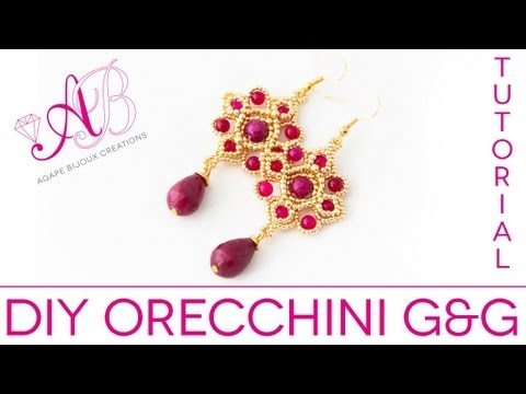 DIY Tutorial   G&G orecchini green and gold (how to bead)