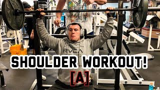 Shoulder workout! | ft Daniel D & Brian W. | Plus Epic Gym Fail!! [A]