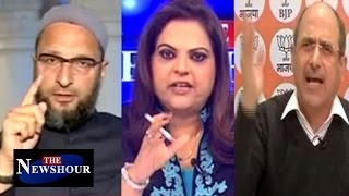 Asaduddin Owaisi Vs Nalin Kohli Over PM Modi's Note Ban: The Newshour Debate (13th Dec)