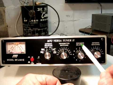 Demonstration of controls settings on MFJ941E Antenna Tuner