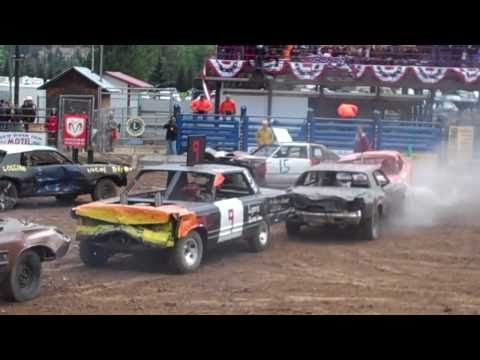 The 3rd heat at the Sanders County fair demolition derby. This heat was pretty short, Some nice hits but nothing like the 1st heat. . Some bagging going on a...