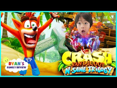 Crash Bandicoot N Sane Trilogy! Let's Play Game with Ryan's Family Review