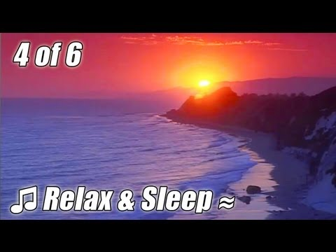 RELAX & SLEEP #4 Relaxing music + SANTA BARBARA ocean lullaby slow Jazz soothing bedtime sleeping