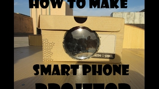 how to make a smart phone projector with a shoe box in 4 minutes (Tutorial)