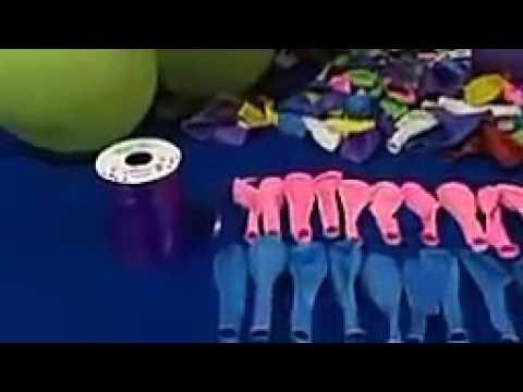 Cara membuat dekorasi balon ulang tahun bentuk standing, gapura sederhana