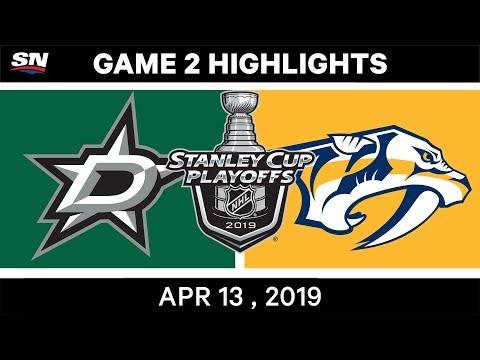 NHL Highlights   Stars Vs Predators, Game 2 – Apr 13, 2019