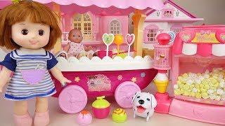 Baby doll Ice cream and Pop Corn cart play baby Doli house